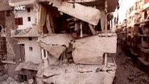Un drone survole Alep après 5 ans de guerre