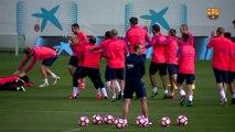 FC Barcelona training session: Messi-Neymar-Suárez defeated… by their teammates!