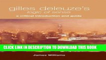 [PDF] Gilles Deleuze s Logic of Sense: A Critical Introduction and Guide Full Collection