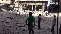 Alep: bombardements sur le quartier de Tariq el-Bab