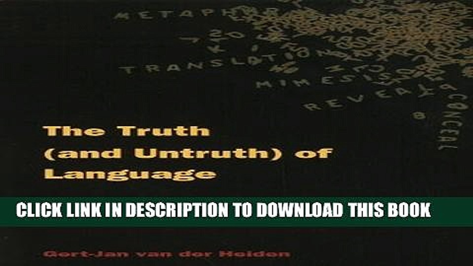 [PDF] The Truth (and Untruth) of Language: Heidegger, Rieoeur, and Derrida on Disclosure and