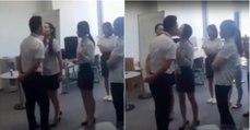 Patrão obriga funcionárias a beijá-lo na boca todos os dias antes do trabalho