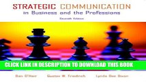 [PDF] Strategic Communication in Business and the Professions (7th Edition) Full Online