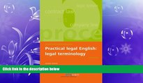 Free [PDF] Downlaod  Practical Legal English: Legal Terminology: Second Edition READ ONLINE