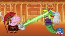Peppa pig Español Makeup ! Peppa Pig Medusa Song Nursery Rhymes Love Story Parody new episodes