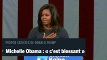 Les propos sexistes de Donald Trump sont « effrayants » et « cruels » pour Michelle Obama