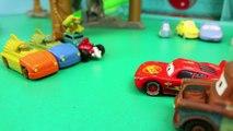 Teenage Mutant Ninja Turtles VS Disney Cars on the T Machines Turtles Revenge Shredder Race Track