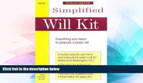 READ FULL  Simplified Will Kit: Prepare Your Own Will Without Using a Lawyer (Simplified Will Kit