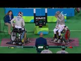 Wheelchair Fencing   Men's Individual Sabre - Cat A   DEMCHUK v TIAN   Rio 2016 Paralympic Games HD