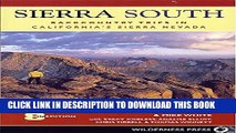 [PDF] Sierra South: Backcountry Trips in Californias Sierra Nevada Popular Collection