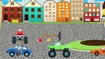 Pelleteuse jaune et Tracteur - Dessins animés pour enfants - Jeu d'assemblage - Vidéo éducative