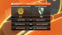 Basket - Euroligue (H) : Le Panathinaïkos démarre par un succès contre Kaunas (84-76)