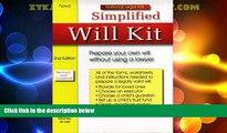 Free [PDF] Downlaod  Simplified Will Kit (Simplified Will Kit (W/CD))  BOOK ONLINE
