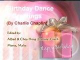Happy Birthday Dance Greetings - Charlie Chaplin