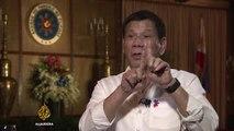 Rodrigo Duterte on US relations: 'No more military exercises' - 'Talk to Al Jazeera