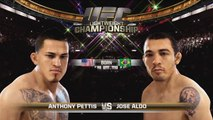 EA SPORTS UFC - Gameplay - Pettis v Aldo - Introductions and First Round