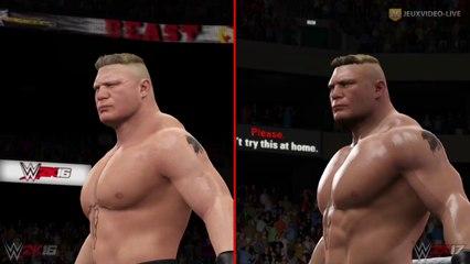 Brock Lesnar : Comparaison WWE 2K17 vs WWE 2K16 de WWE 2K17