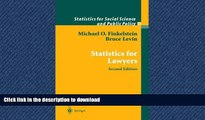 READ THE NEW BOOK Statistics for Lawyers (Statistics for Social and Behavioral Sciences) READ NOW