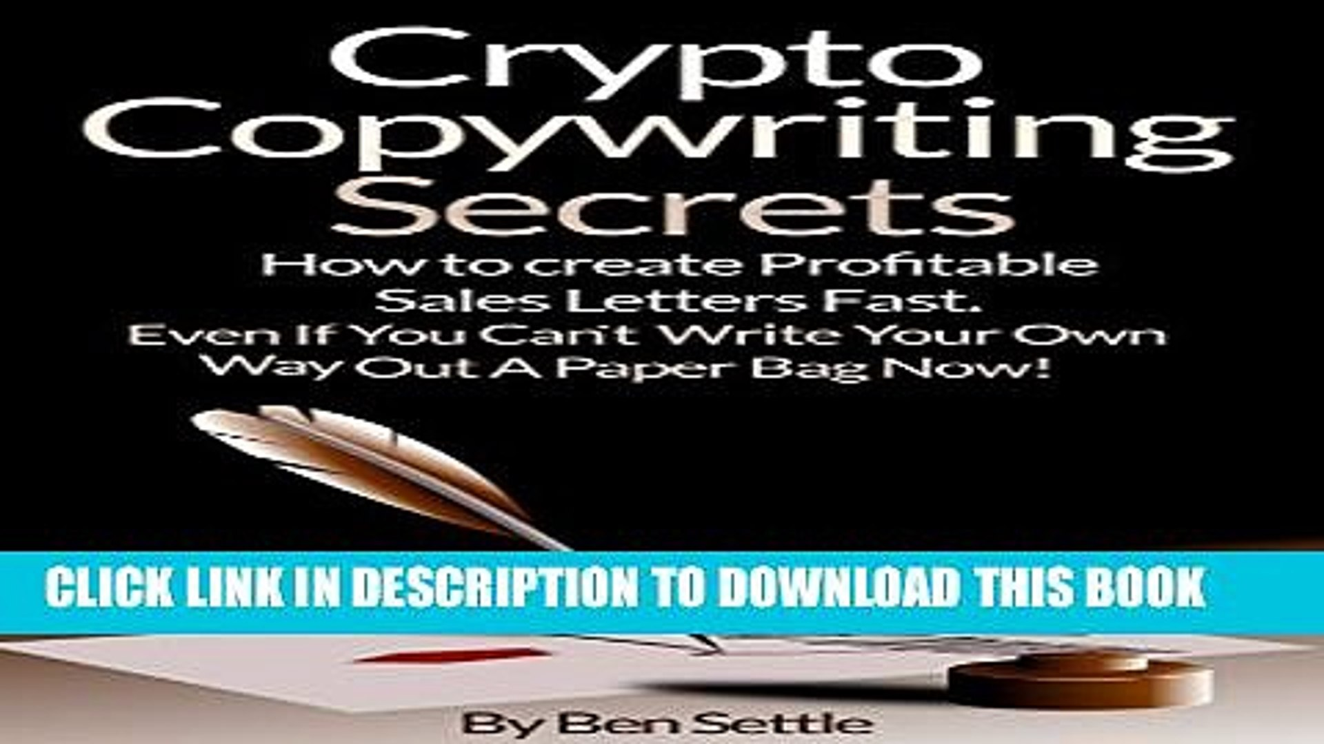 [BOOK] PDF Crypto Copywriting Secrets - How to create profitable sales letters fast - even if you