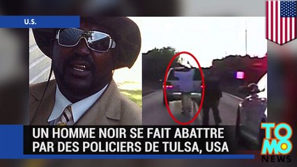 Une vidéo montre des policiers américains abattre un homme noir à Tulsa