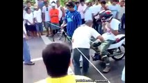 DRAG racing on DRUGS! Motorcycle Racing Accident Caught on CAM-zYCsBNBeln4