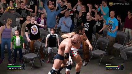 Combat dans le public (Triple H vs Rusev) de WWE 2K17