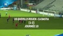 J10 - US Quevilly-Rouen - CA Bastia (1-2), le résumé