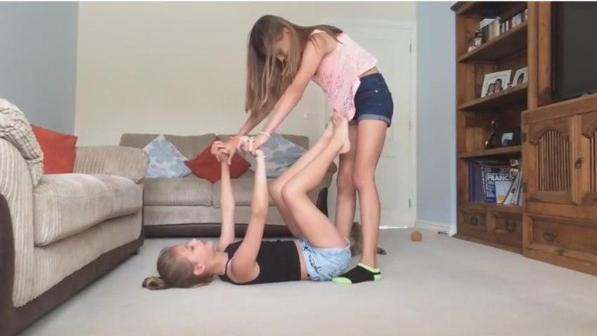 Girl gimnast.  Yoga challenge!