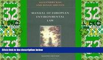 Big Deals  Manual of European Environmental Law  Best Seller Books Best Seller
