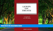 Deals in Books  Lewin on Trusts: 1st Supplement  Premium Ebooks Online Ebooks