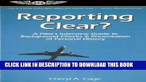 [PDF] Reporting Clear?: A Pilot s Interview Guide to Background Checks   Presentation of Personal