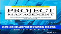 [PDF] Project Management: A Systems Approach to Planning, Scheduling, and Controlling Full