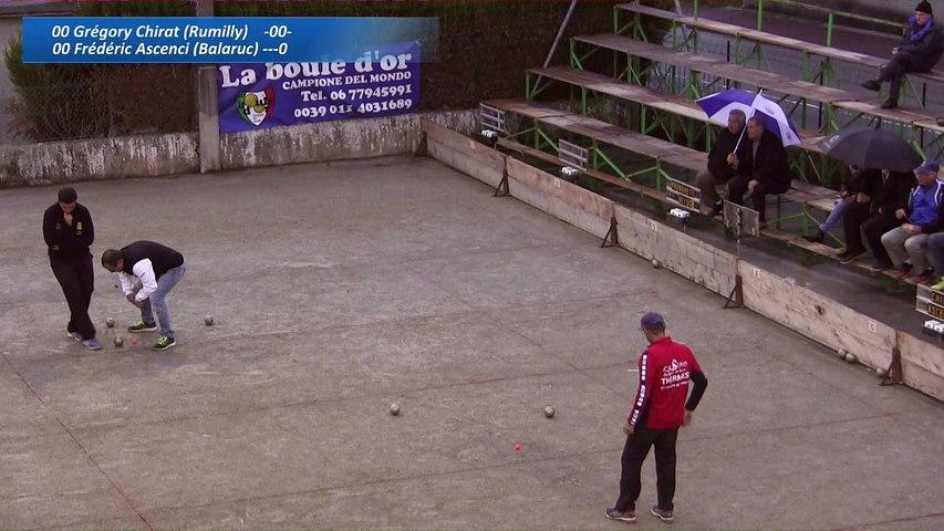 Finale Frédéric Ascenci contre Grégory Chirat, Sport Boules, Thuellin 2016