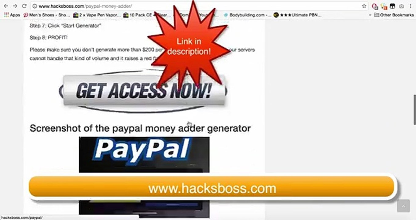 Online Working New Paypal Money Generator 2017