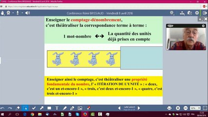 Vidéo conférence de Rémi Brissiaud sur la construction du nombre