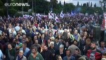 هزاران نفر در اعتراض به برنامه های دولت در آتن تظاهرات کردند