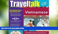 Big Deals  Vietnamese [With Lonely Planet Phrasebook W/2-Way Dictionary] (TravelTalk)  Best Seller