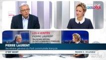 Pierre Laurent (PCF) juge ''impossible'' une candidature de François Hollande et appelle la gauche à s'unir