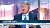 """Philippe de Villiers: """"Emmanuel Macron n'est plus socialiste car il y a eu un miracle dû à Jeanne d'Arc"""""""