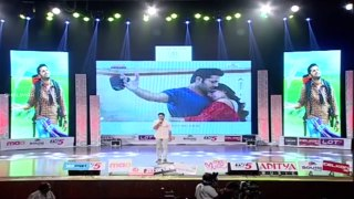 Nithin Imitating Pawan Kalyan Dance In A Aa Audio Launch Nit