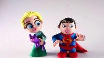 Batman vs Hulk Play Doh Stop Motion Movies (Superheroes, Elsa, Superman, Ironman)