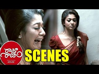 Raja Rani Movie Scenes - Heart Touching Emotional Scene Regina Crying For Surya - Nayanthara