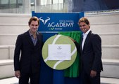 Rafael Nadal and Roger Federer at the Opening Ceremony of Rafa Nadal Academy in Manacor