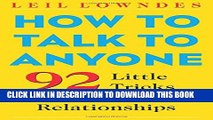 [PDF] How to Talk to Anyone: 92 Little Tricks for Big Success in Relationships Popular Collection