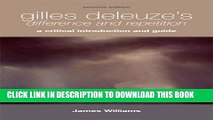 [DOWNLOAD] PDF BOOK Gilles Deleuze s <i> Difference and Repetition</i>: Gilles Deleuze
