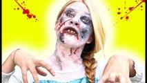 Frozen Elsa ZOMBIE Attack! w- Spiderman Joker Black Zombie Venom Hulk TOYS! Supe