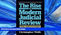 FREE DOWNLOAD  The Rise of Modern Judicial Review: From Judicial Interpretation to Judge-Made