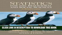 [PDF] Statistics for the Behavioral and Social Sciences (4th Edition) Full Online[PDF] Statistics