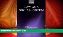 Big Deals  Law As a Social System (Oxford Socio-Legal Studies)  Full Ebooks Most Wanted