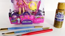 DIY Gold Limited Edition Bubbleisha Shoppies Shopkins Toy Doll _ How To Make Sho